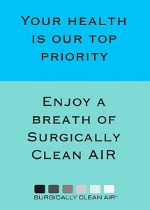 Surgically clean air provided in Britannia Dental care as response to covid-19